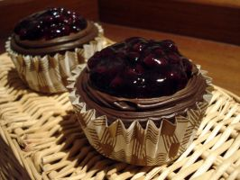 Blueberry Choc Fudge Muffin by Sliceofcake