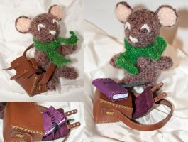 Sacha the Crochet Schoolmouse by esther-rose-mouse