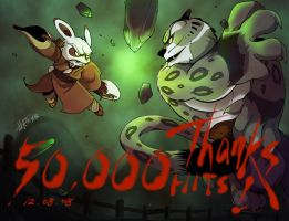 Kunfu Panda for 50000 hits by Rcaptain