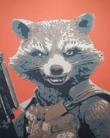 Rocket Raccoon by Papergizmo