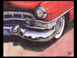 1953 Cadillac Close Up by FastLaneIllustration