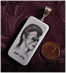 Bowie  Ziggy Stardust domino portrait pendant by D-E-V-I-A-N-T-A-R-T