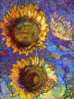 Sunflowers with Blue by Tackon