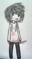 Traditional: Chibi Jeff The Killer by AllTheLittleWonders