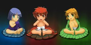 Magic Knight Rayearth Babies by tcwoua