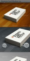 business card stack mockup 03 by ranfirefly