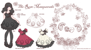 The Rose Masquerade print by Demon-Emily