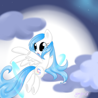 Yinyve flying in sky by Yinyue-Cainna