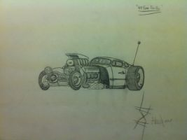 49 Ford Rat Rod 'Sketch' by LostHelix119
