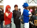 Human Sonic,Shadow, and knuckles cosplay by EVA00Z