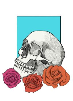 Skull and Roses by hyrelynk