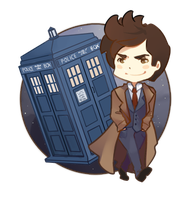 Chibi: 10th Doctor by xephia