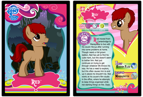 Red Trading Card by RinMitzuki