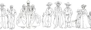 Western characters by MargoMeiko