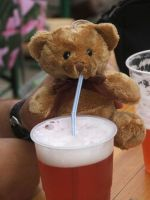 Drunked Teddy by DarkDrows
