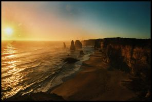 Sunset at The 12 Apostles 3 by wildplaces