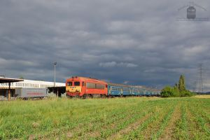 418 108 with passenger train near Gyor, 2014 by morpheus880223