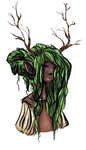 Antler Girl by Colourcloud