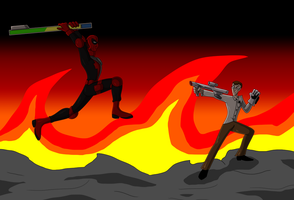 Deadpool Vs The Angry Video Game Nerd by AraghenXD