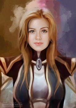 Amy Adams World of Warcraft by MartaDeWinter