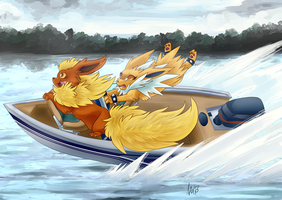 Wild Boat Ride by SpaceSmilodon