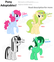 [Finished!] Pony Adoptables 1 by missmagikarp