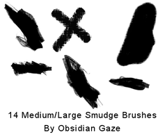 Smudge Brushes by seline-bennet