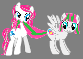 G3 Blossomforth meet G4 Blossomforth by MLPhistorian
