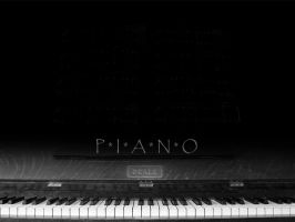 Piano Wallpaper by AEast