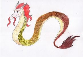Chinese dragon by TheArtisticPony