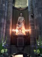 Ghent St. Baafs cathedral Josef Statue by BlokkStox