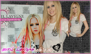 Avril Lavigne back to job by vams