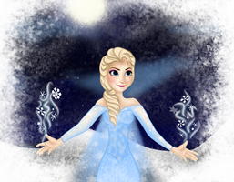 WIP Elsa: Let it Go by nymphadoratheexplora