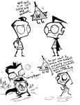 ZIM X BILL CIPHER DOODLES by Candys-Killer