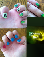 Breaking Bad Nail Art by Dewheart85