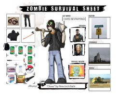 Zombie Survival Sheet by Rhunyc