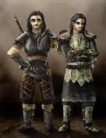 Skyrim's twins by Polyne55