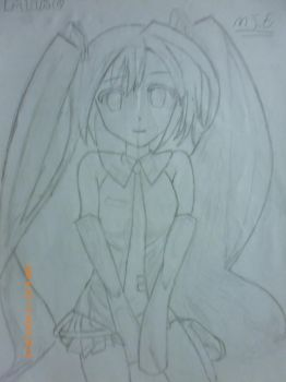 mikuuuuuu in drawing 1 by 16miguel