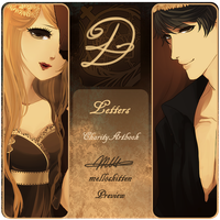 .: LETTERS artbook : PREVIEW :. by melloskitten