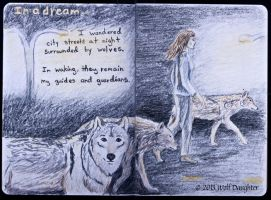 Wolf Daughter Sketchbook 2013 Page 6-7 by Wolf-Daughter