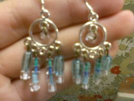 Blue looped Earrings by EllasDesigns