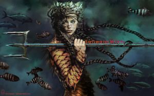 Saltwater Witch Wallpaper Fall 2013 by the0phrastus