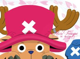 Tony Tony Chopper on Ipad by TrouperDNico
