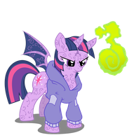 Twilight 'Demona' Sparkle by Nun2artzy