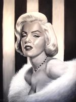 Beautiful Marilyn Monroe by gerrykinch
