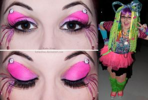 Hello Kitty Eyes and Halloween Costume by KatieAlves