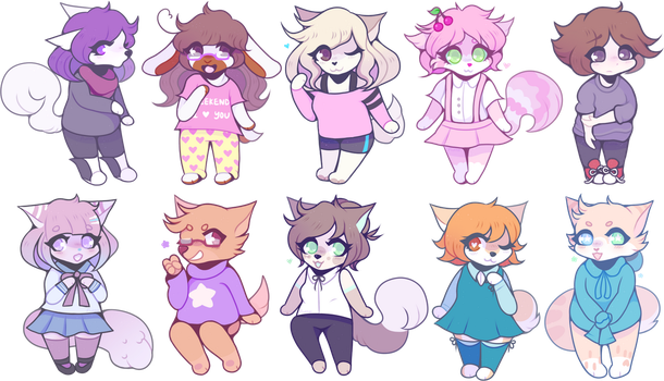 too many chibis by fllutter
