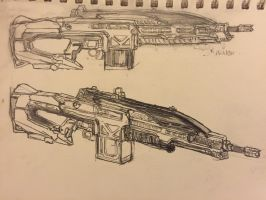 IA 'Savager' Squad Automatic Weapon (SAW) by HaruAxeman
