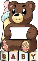 Baby Bear Lawnsign by zombie