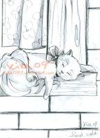 lazy cat:rough scetch by kika1983